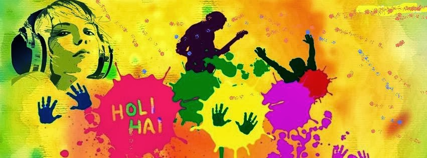 Happy Holi Festival Facebook Cover